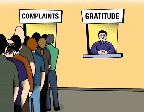 [Image] Stop complaining and become one of the few people who only see life in a positive way. Embrace gratitude