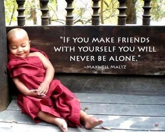 """If you make friends with yourself you will never be alone."" ~Maxwell Maltz [529*426]"