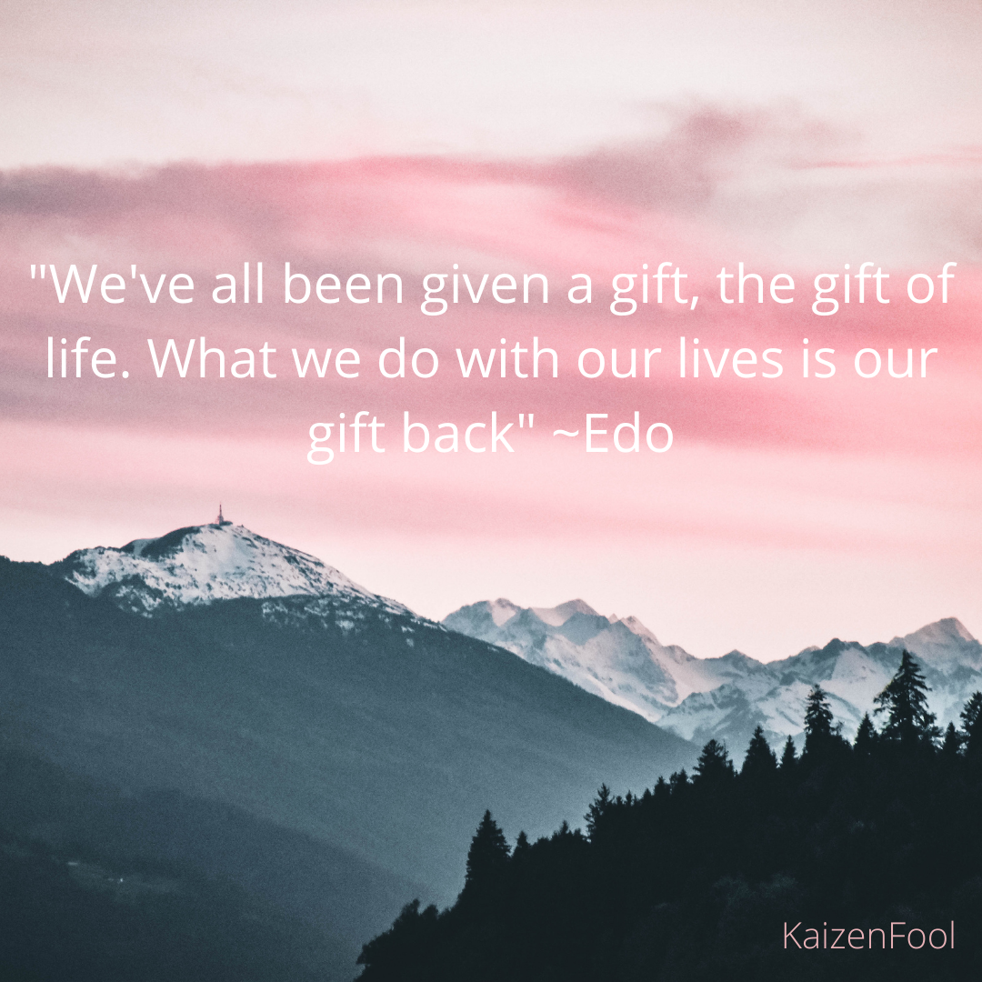 [Image] Let's face it, we've all been given a gift – the gift of life!
