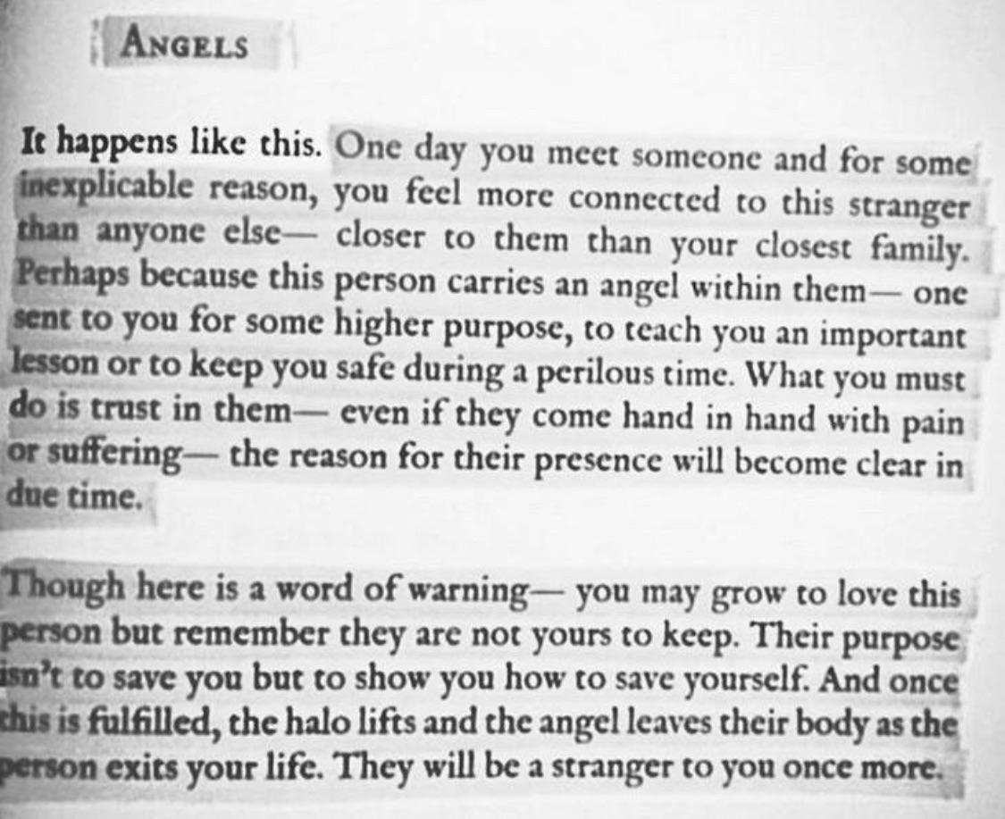 [1125×917] From strangers to angels then strangers again.