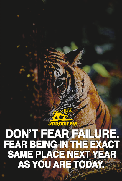 Failure is a part of success when used as motivation. Fear the right thing! [IMAGE]