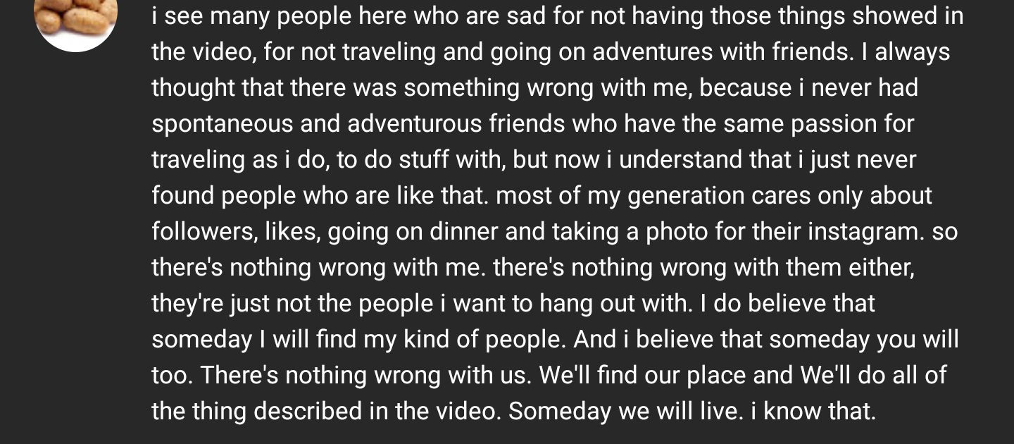 [Image] Just found this very wholesome YouTube comment, immediately though of you guys.
