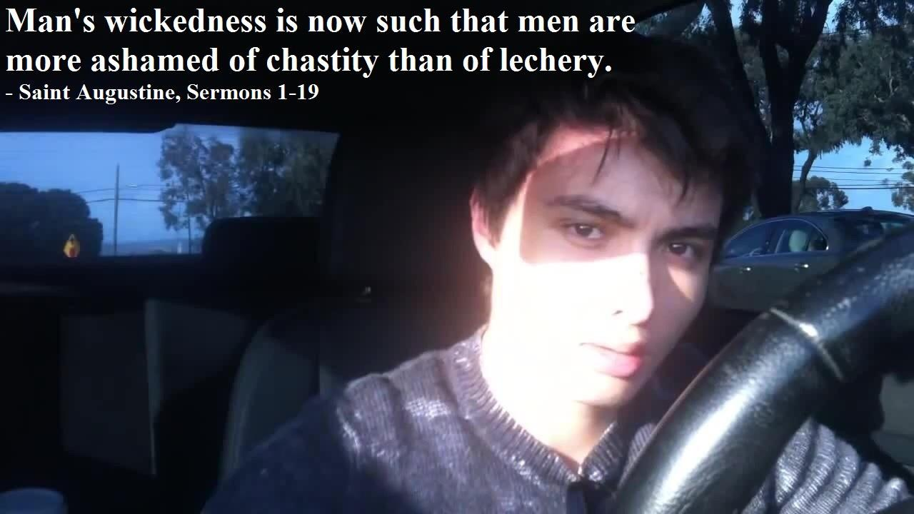 """""""…Men are now more ashamed of chastity than lechery."""" – Saint Augustine [1280×720]"""