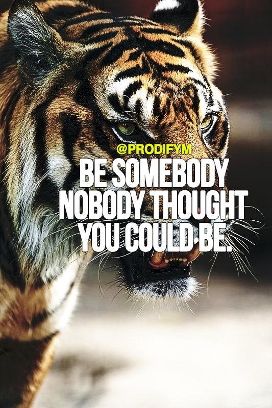 [image]Be somebody nobody thought you could be.