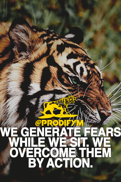 [image] We generate fears while we sit. We overcome them by action.