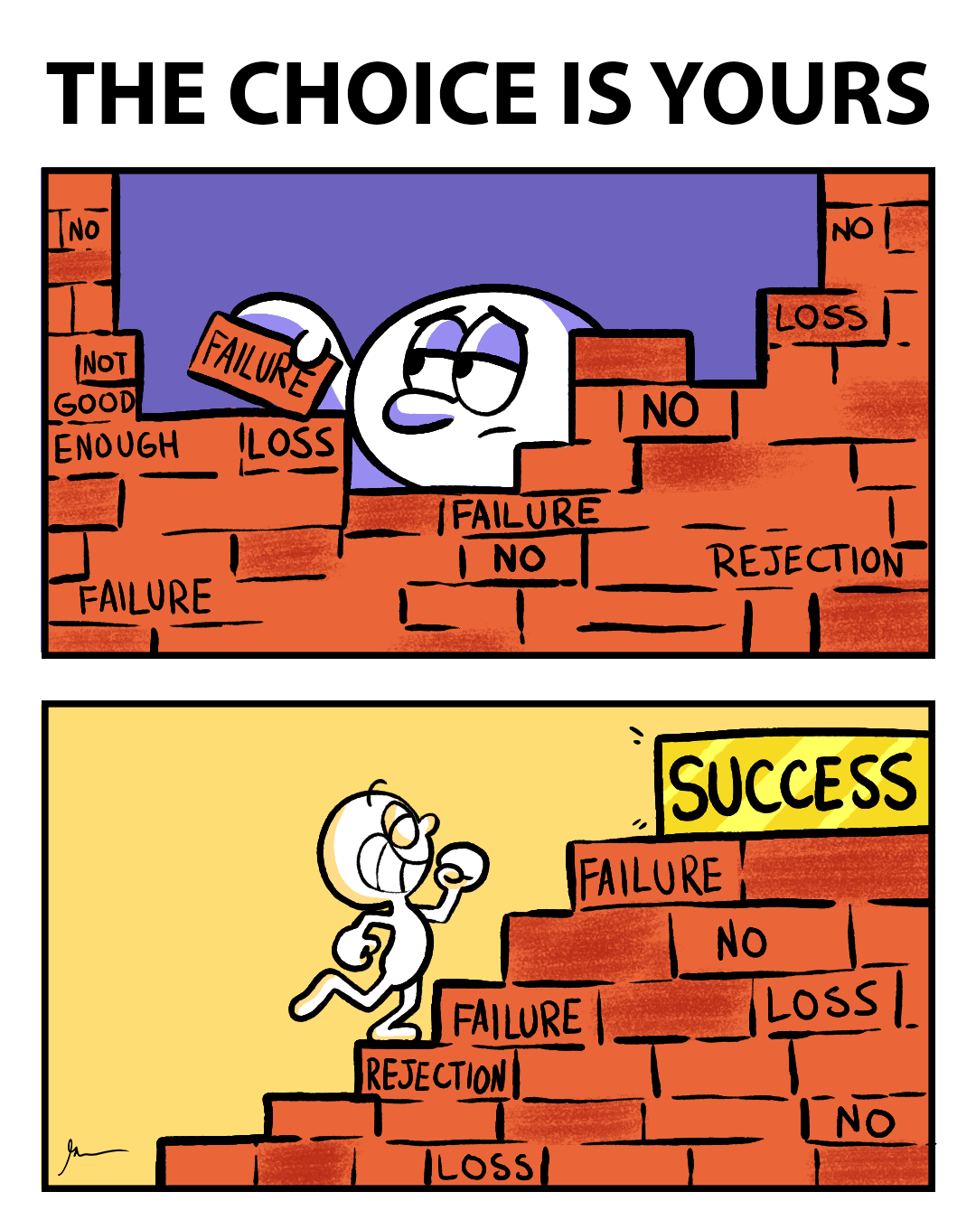 The stepping stones to success [Image]