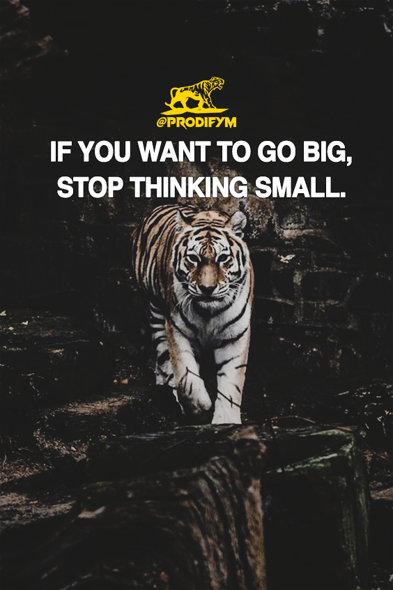 [image] If you want to go big, stop thinking small.