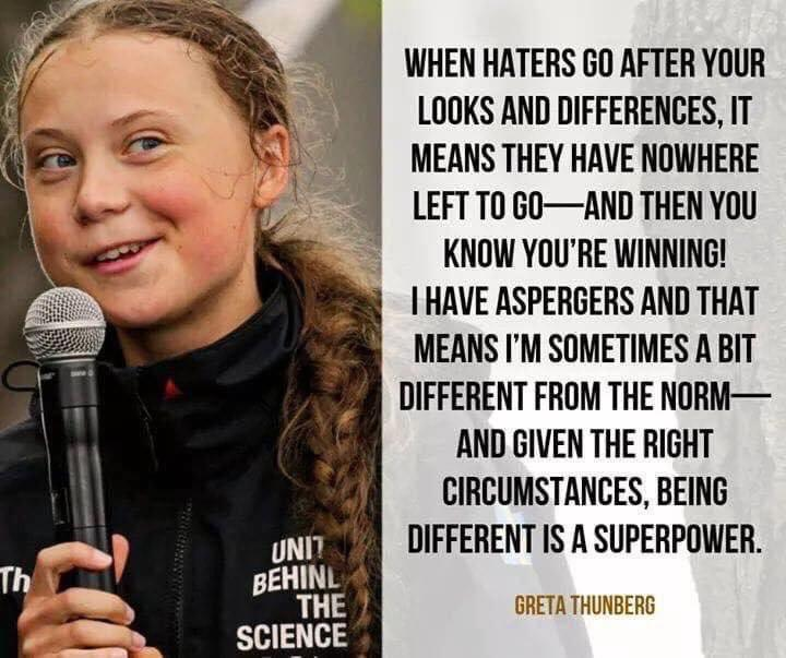 [Image] Very wise words from an intelligent young lady