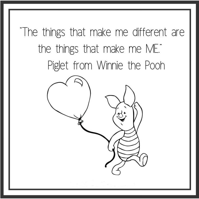 [Image] The things that make me different are the things that make me ME – Piglet