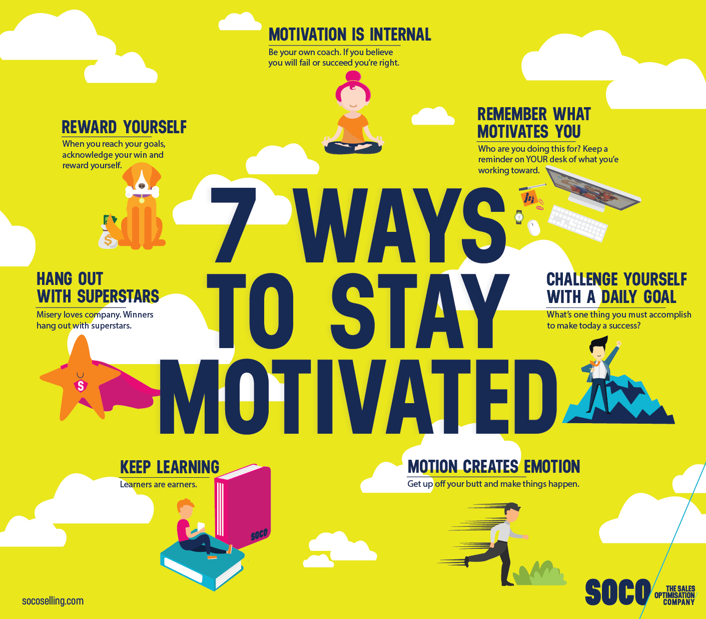 [image] 7 ways to stay motivated