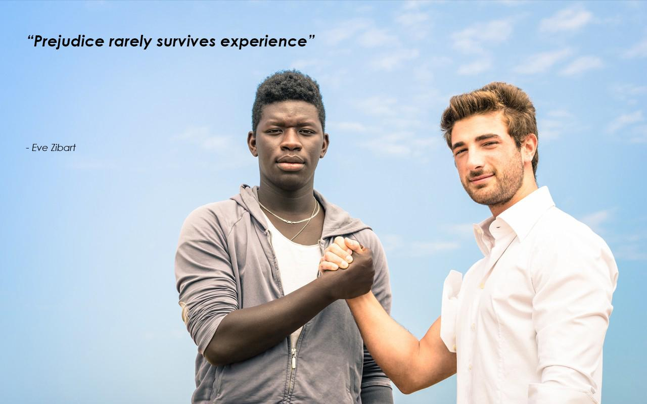 """Prejudice rarely survives experience"" – Eve Zibart [1280*800]"