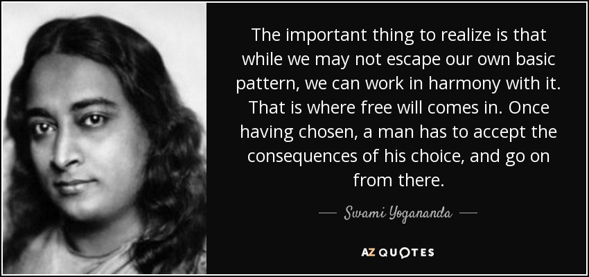 """The important thing to realize is that…"" – Swami Yogananda [850X400]"