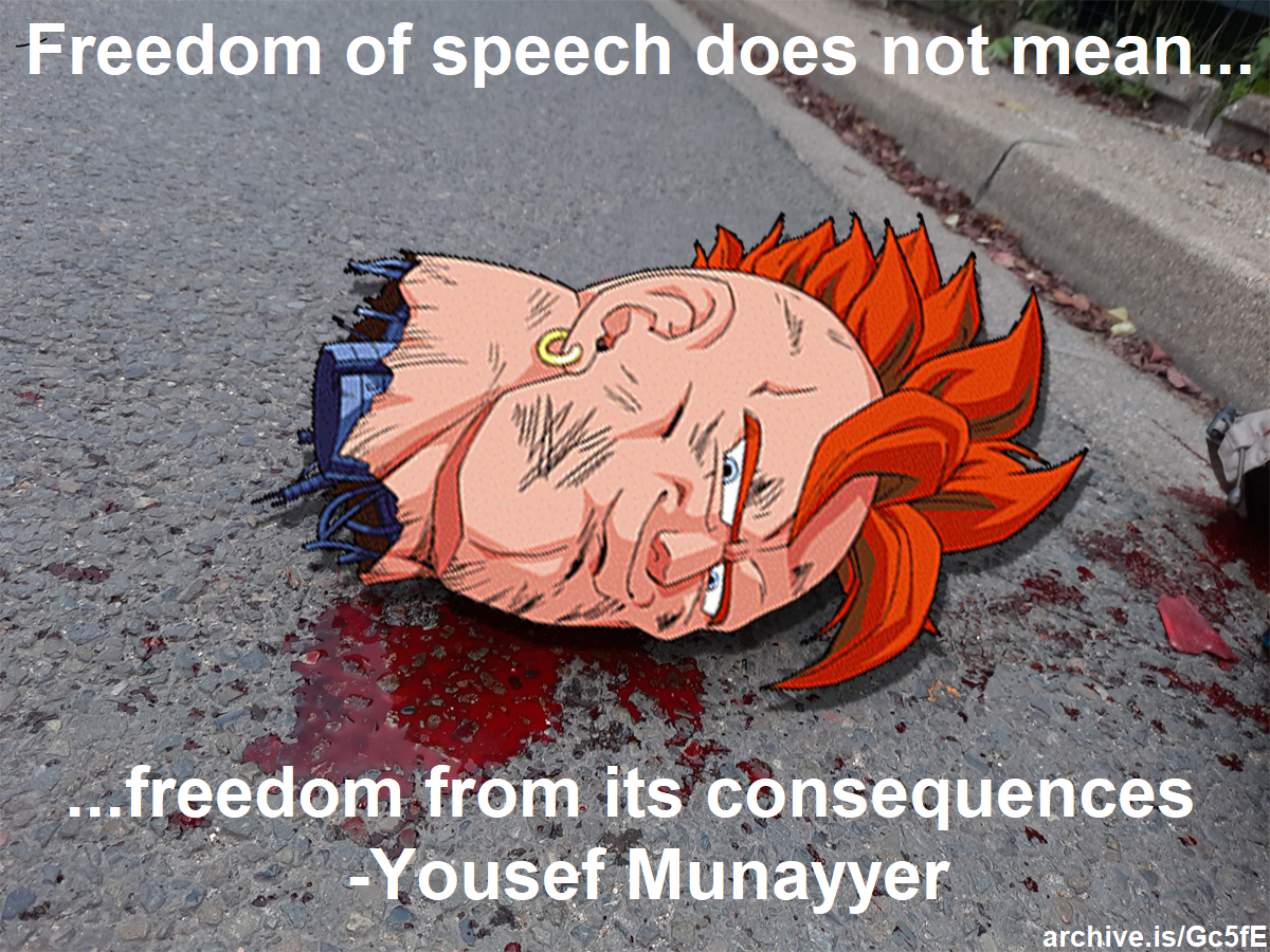 """Freedom of speech…"" – Yousef Munayyer [1200×900]"