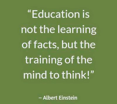 Training of the mind ~ Albert Einstein [400×356]