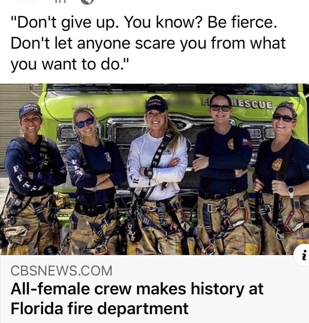 [image]All-Female Crew Makes History At Florida Fire Department