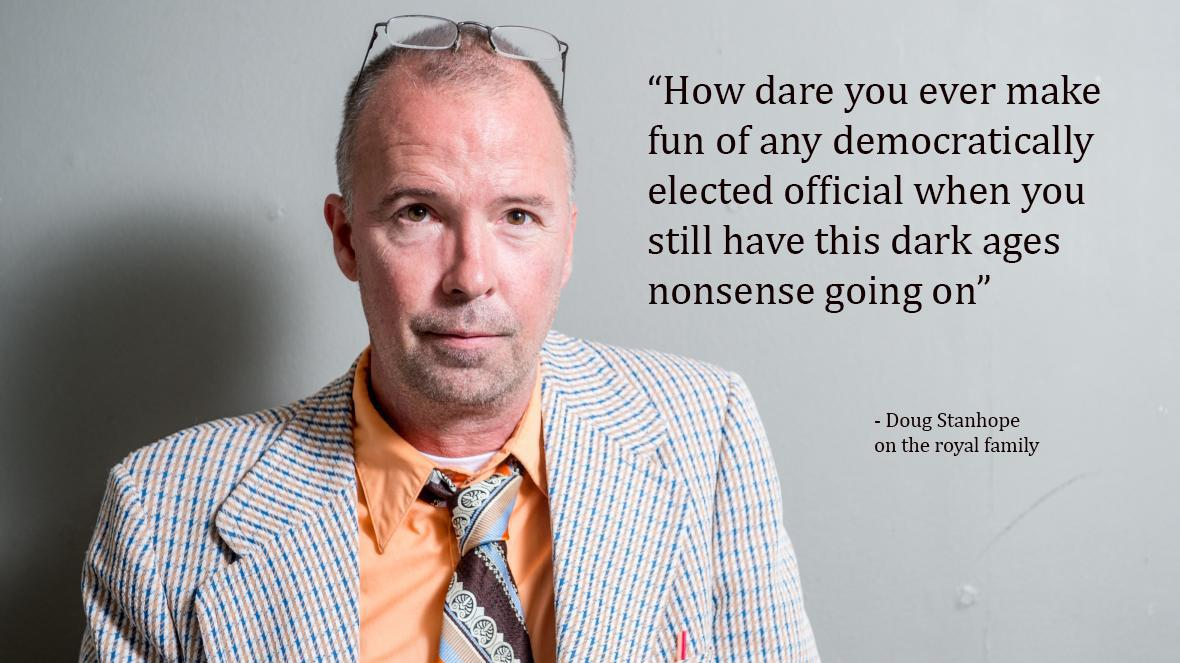 """How dare you ever make fun of any democratically elected official when you still have this dark ages nonsense going on"" – Doug Stanhope [1180*663]"