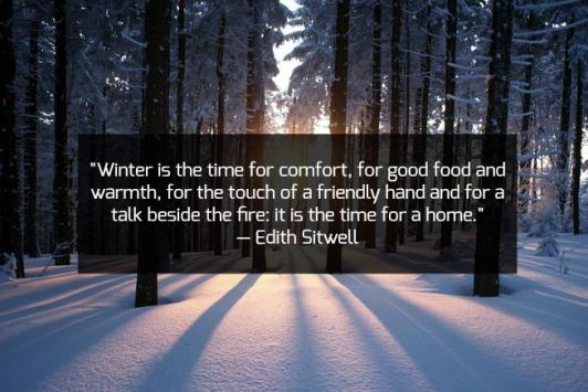 Winter is the time for comfort….. -Edith Sitwell [532×355]