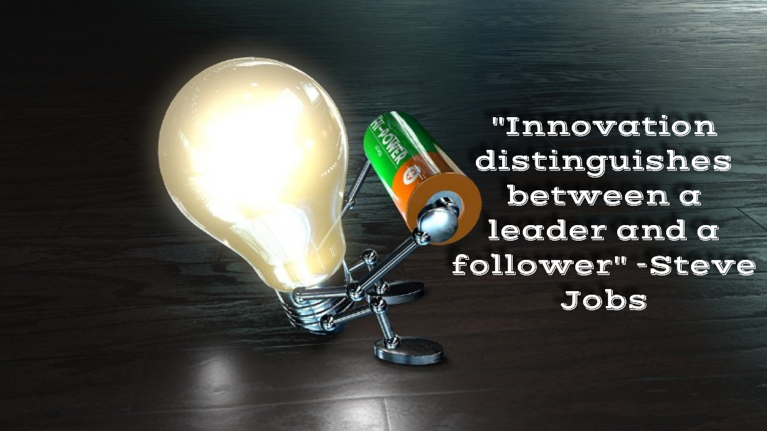 "[800*450] ""Innovation distinguishes between a leader and a follower"" – Steve Jobs"