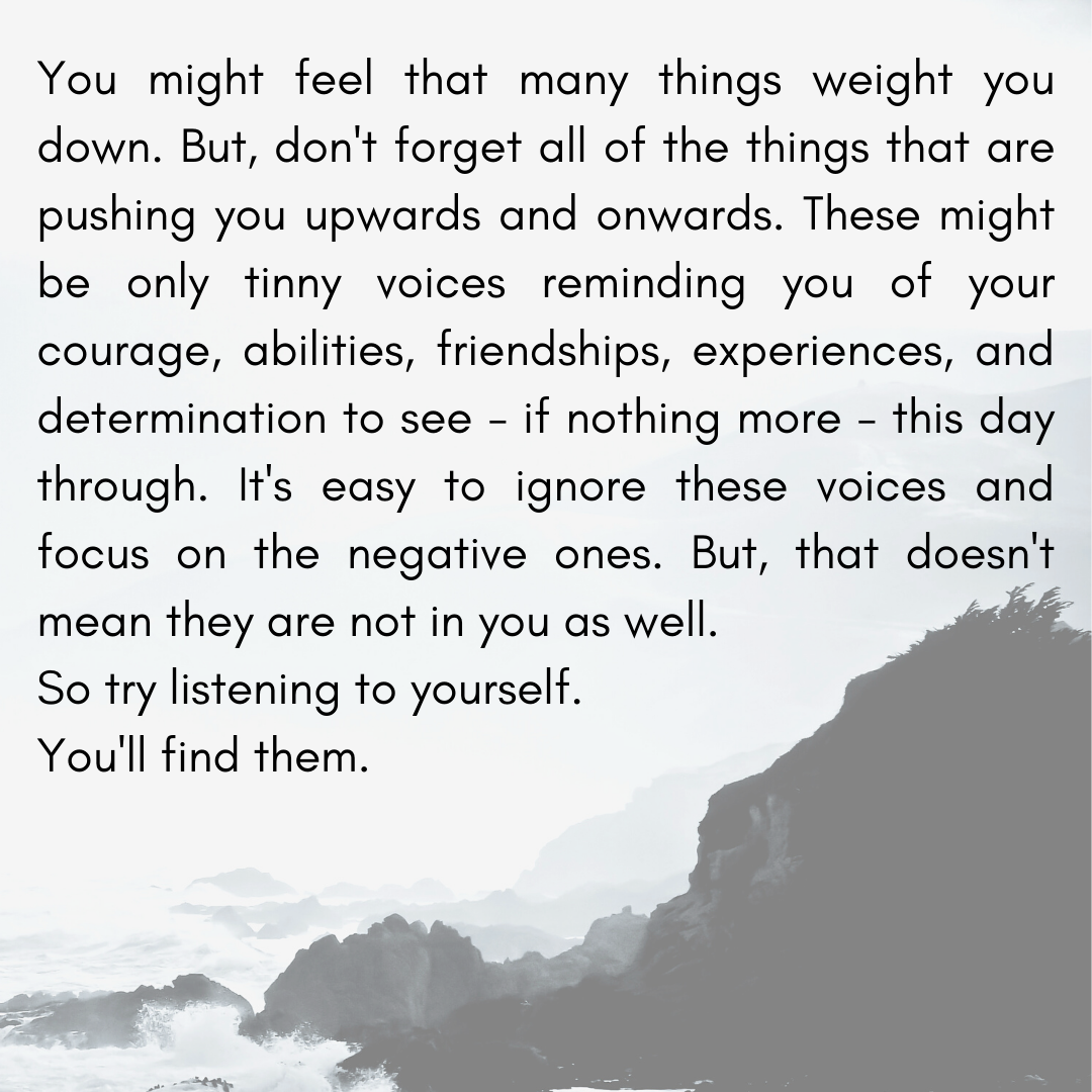 [Image] Things pushing you forward.
