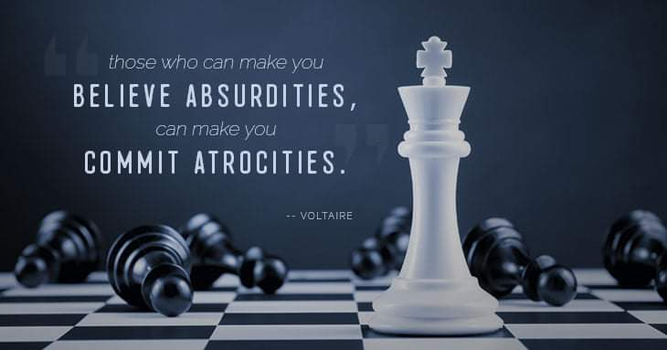 """""""Those who can make you believe absurdities…"""" — Voltaire [1200×628]"""