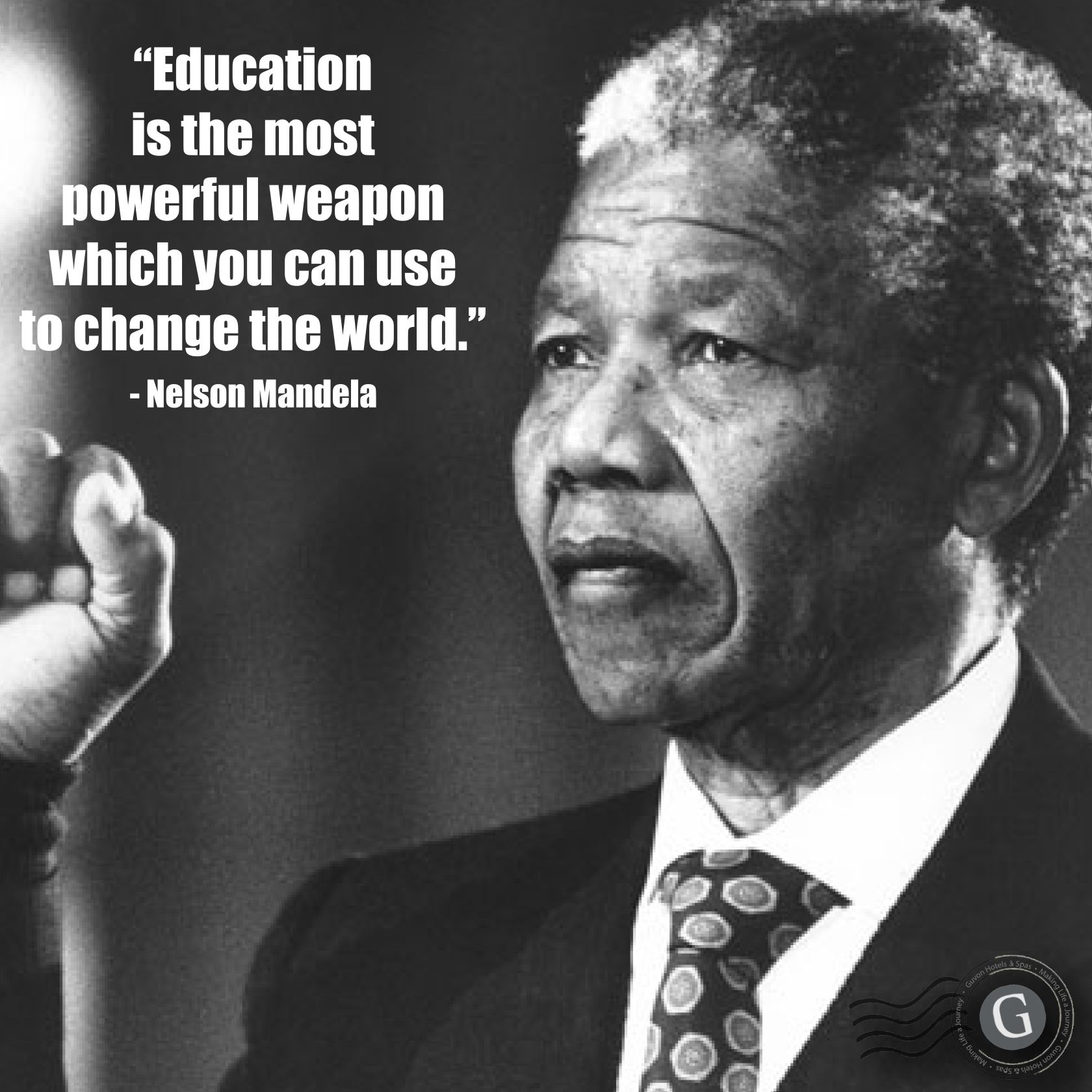 """Education is the most powerful weapon which you can use to change the world.""- Nelson Mandela {1680X1680}"