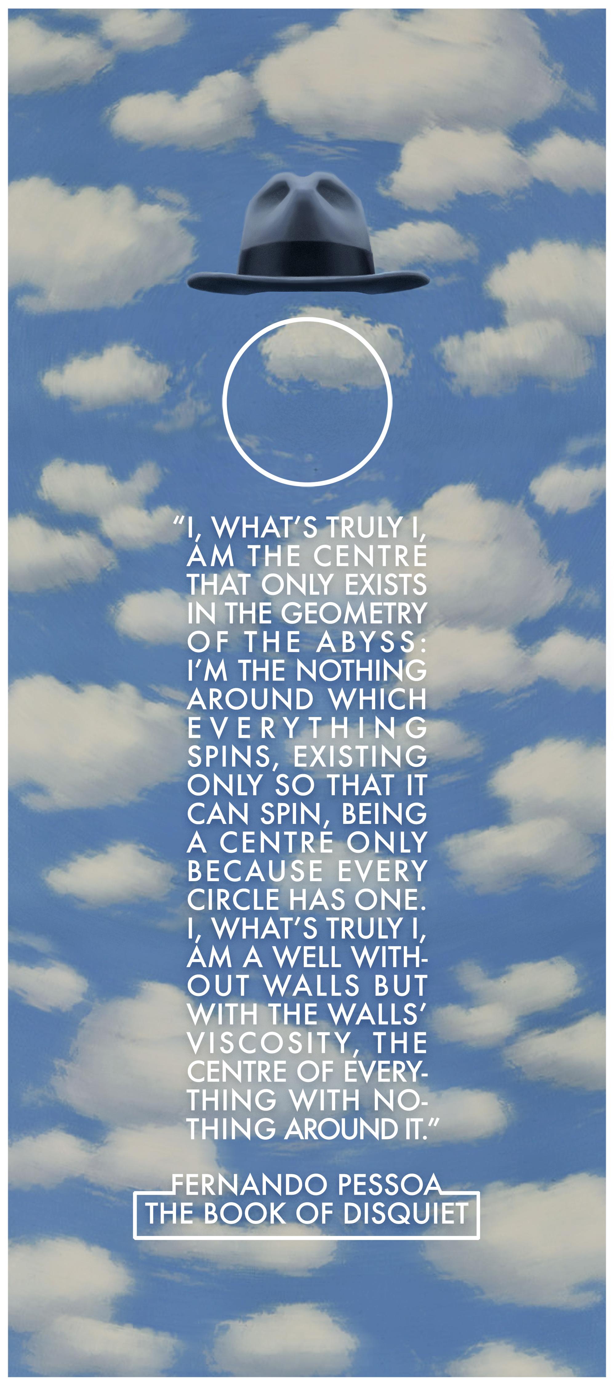 """""""I, what's truly I"""" —Fernando Pessoa, The Book of Disquiet [1995 x 4500] [OC]"""