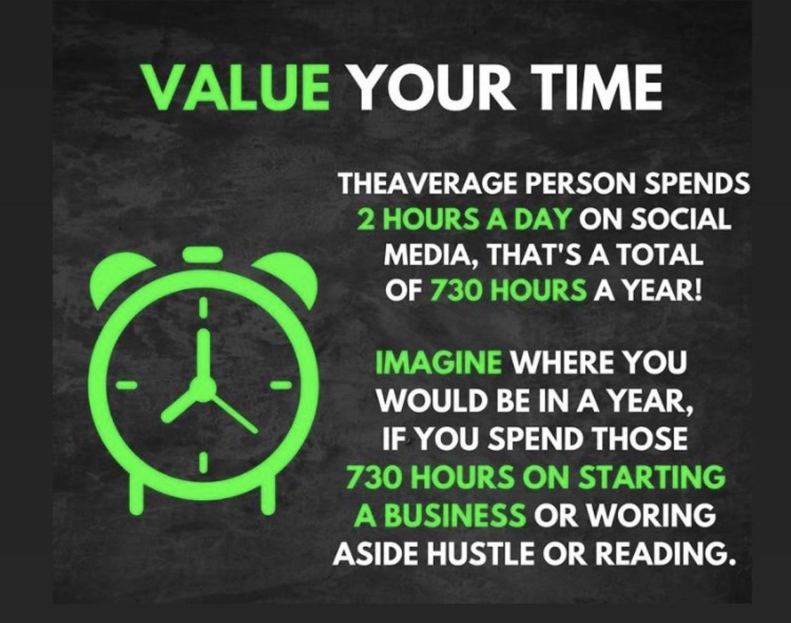 [Image] Value your time.