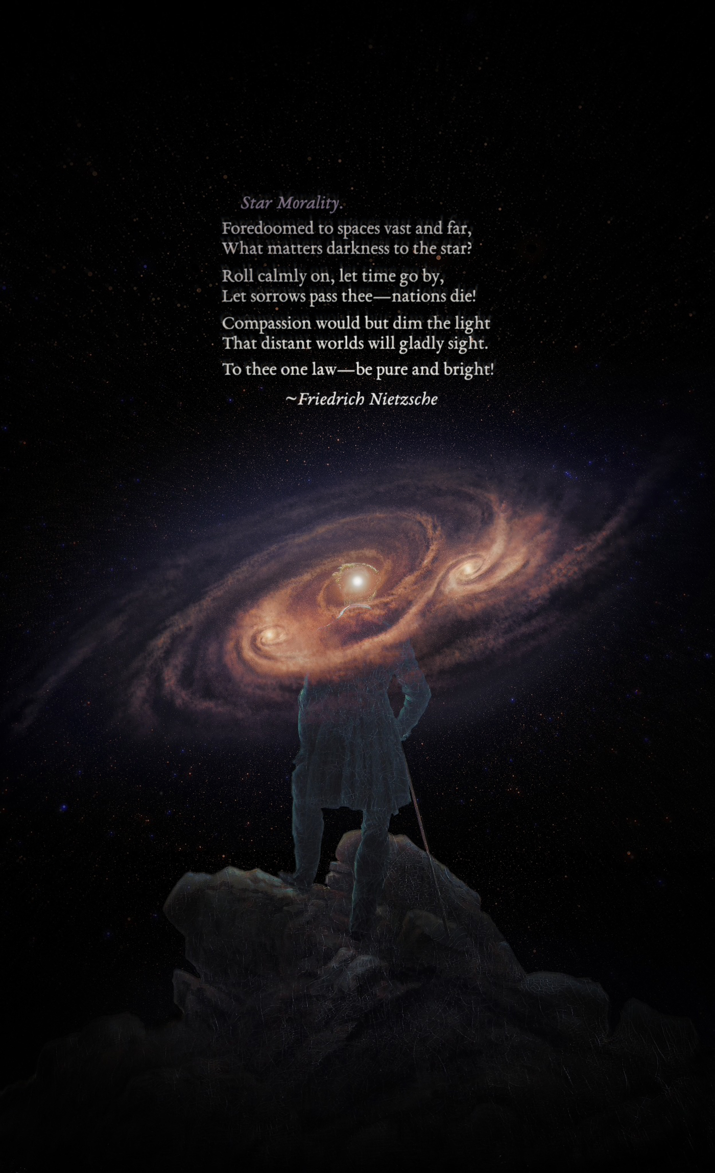 Star Morality — Friedrich Nietzsche [1400 x 2295] [OC]