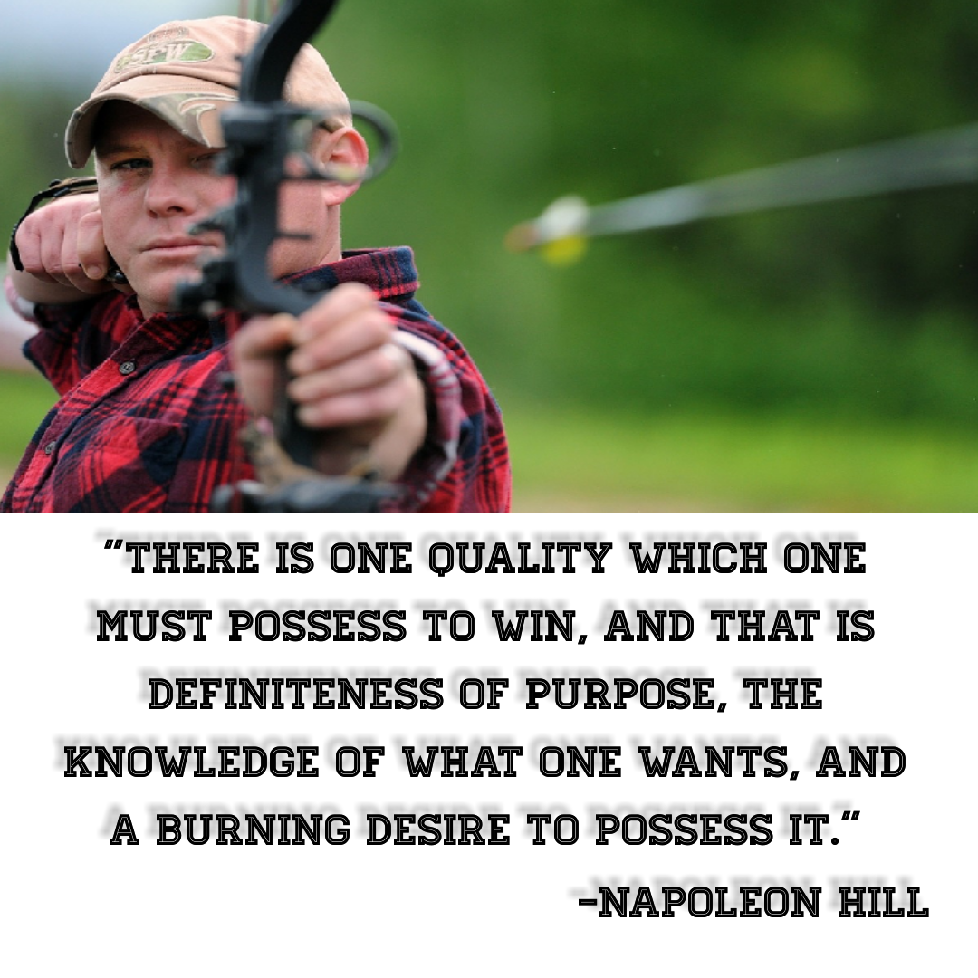 """There is one quality which one must possess to win, and that is definiteness of purpose, the knowledge of what one wants, and a burning desire to possess it.""[1080*1080] -Napoleon Hill"
