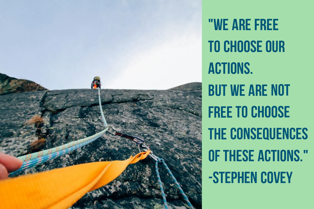 """We are free to choose our actions. But we are not free to choose the consequences of these actions.""[1280*853] -Stephen Covey"