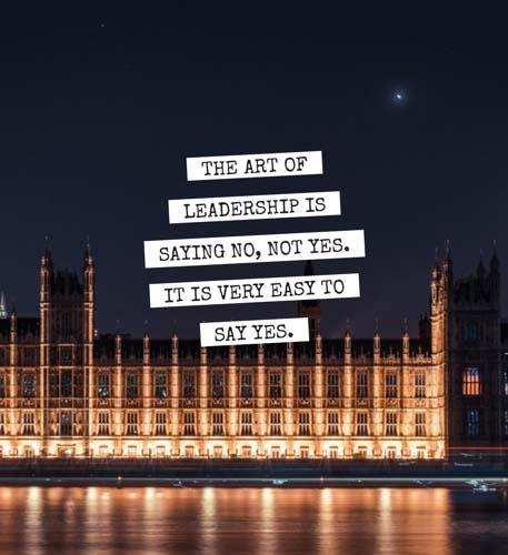 The Art of Leadership is saying no, not yes. (Anonymous) [457×500]
