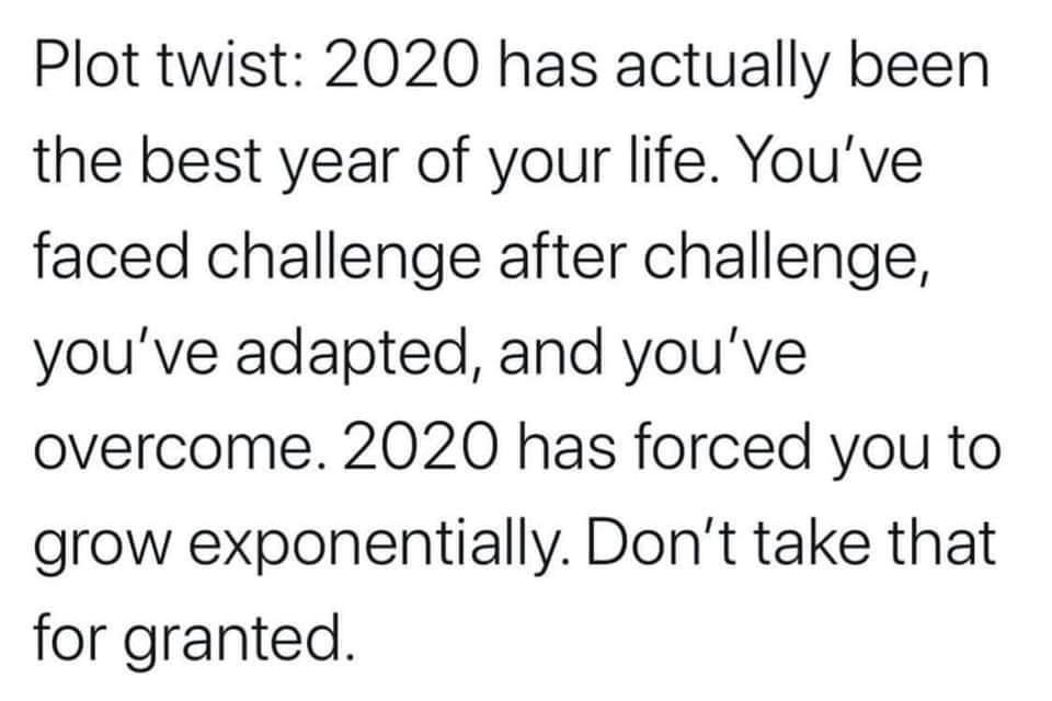 [Image] 2020 can be the best year of your life