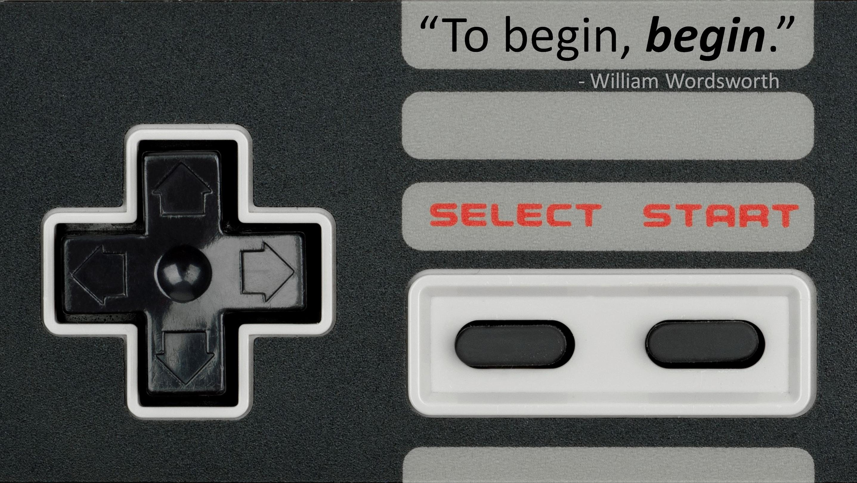 [Image] To begin, begin