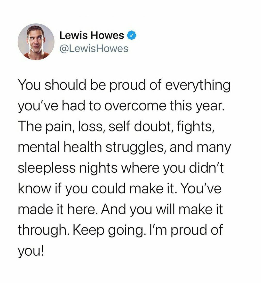 I really am proud of you. [IMAGE]