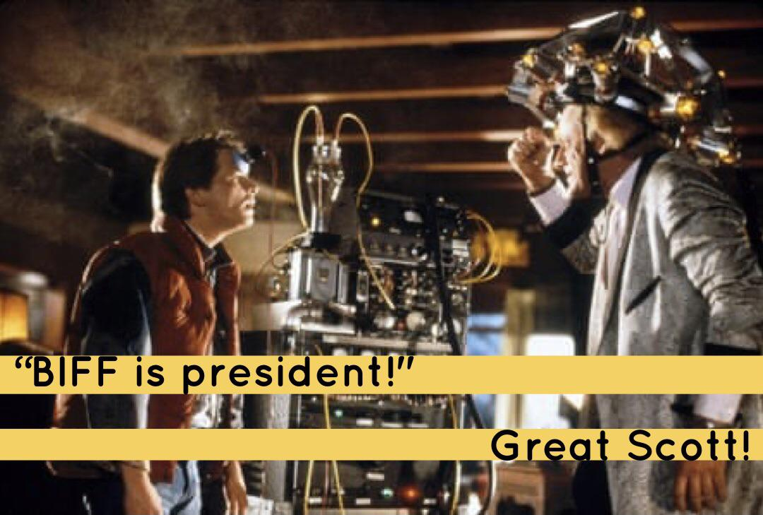 """Biff is President!"" Michael J. Fox, October 2020 [OC] [1080 x 729]"