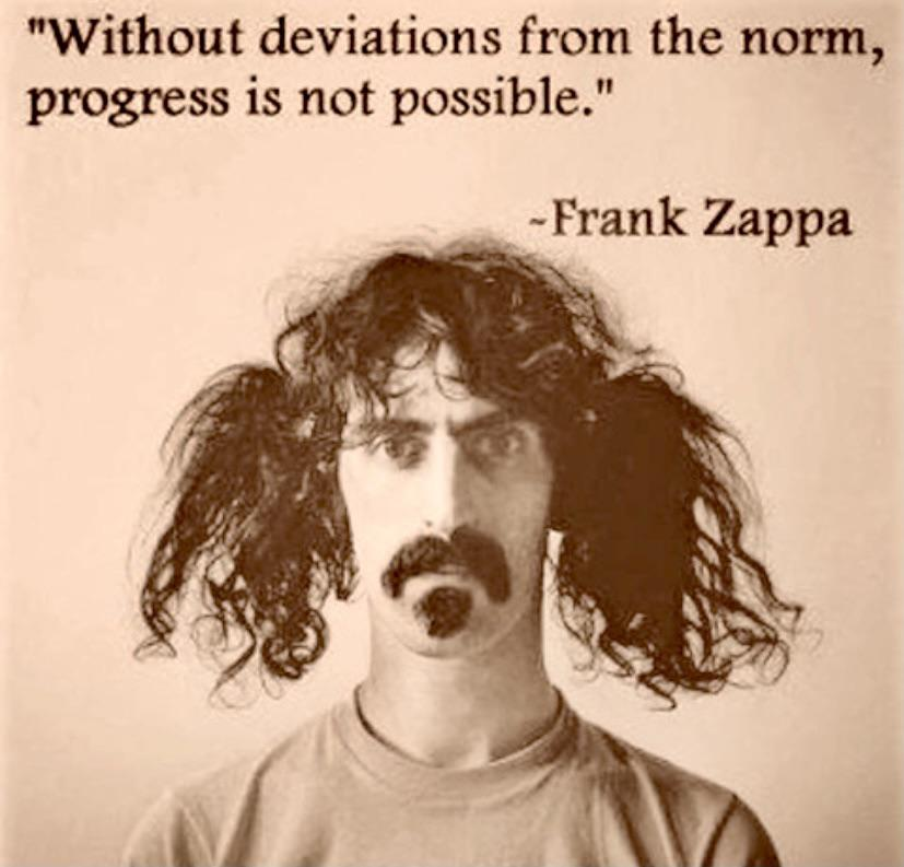 Without deviations from the norm. ~Frank Zappa [827 X 793]