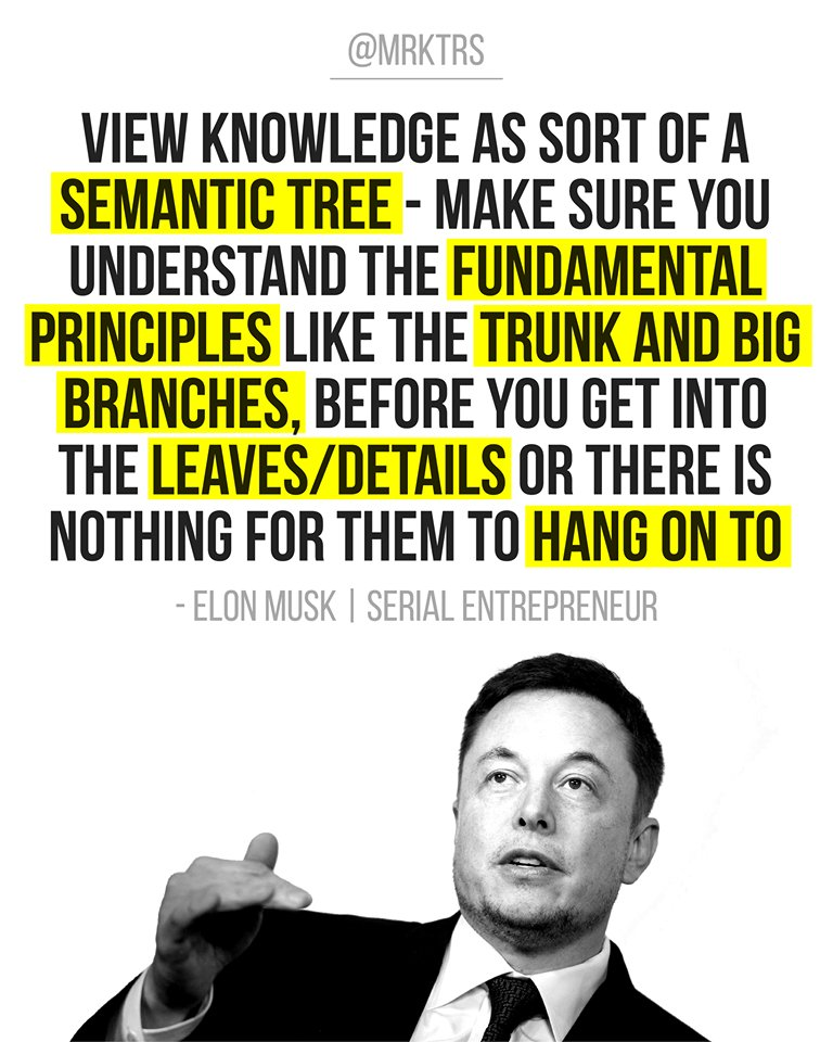 """View knowledge as sort of a semantic tree"" – Elon Musk (768*960)"