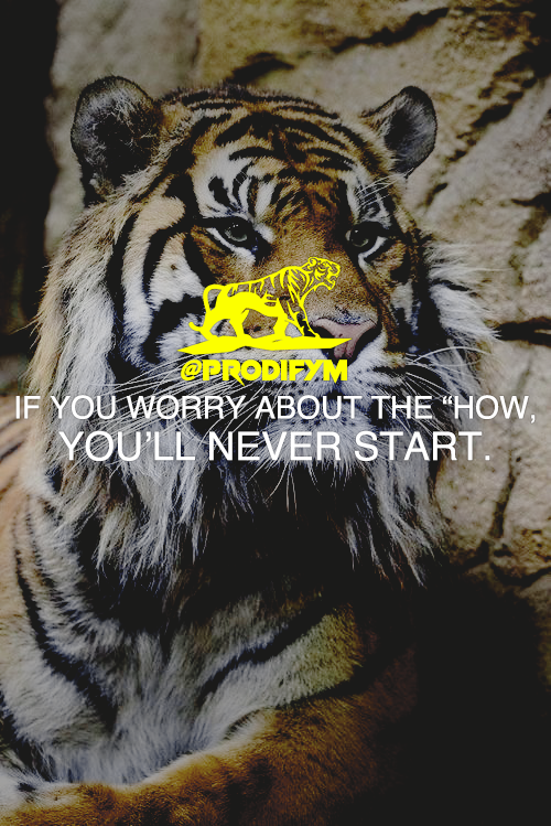 "[image] If you worry about the ""HOW"", you'll never start."