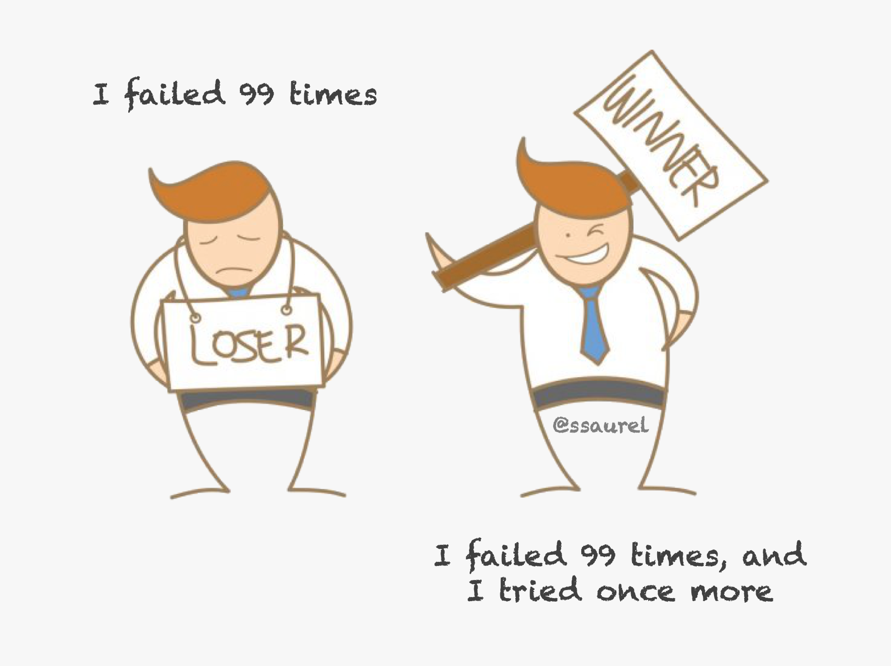 I failed 99 times I failed 99 times, and I tried once. more. https://inspirational.ly
