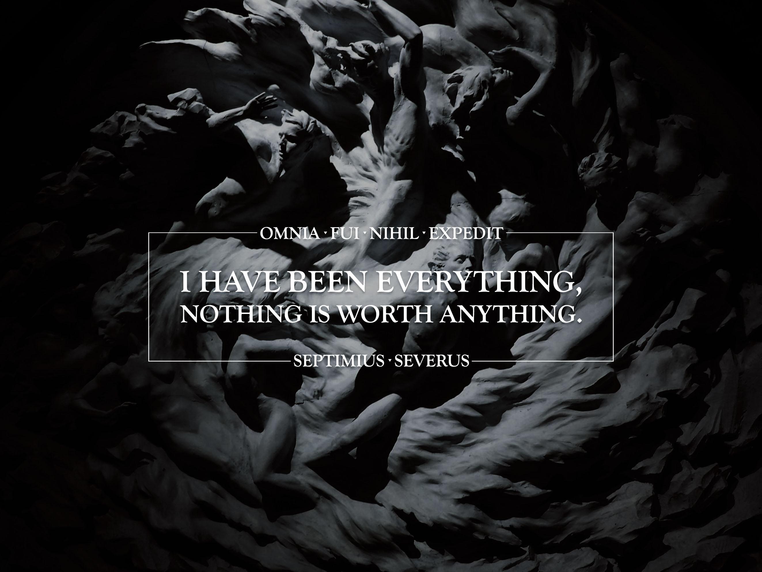 """""""Omnia fui, nihil expedit"""" — Septimius Severus [2646 x 1984] [OC]"""