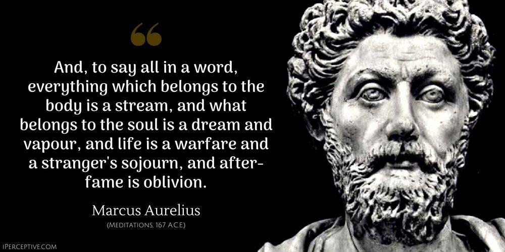 """And to say all in a word, everything which belongs to the body is a stream…"" -Marcus Aurelius [1000×500]"