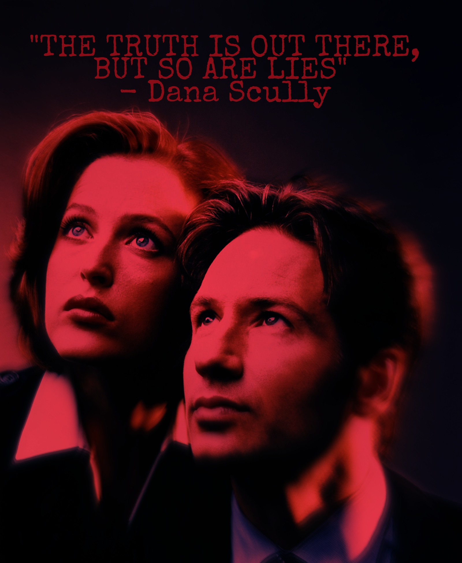 """""""The truth is out there, but so are lies"""" – Dana Scully [X-Files][1600×1951]"""