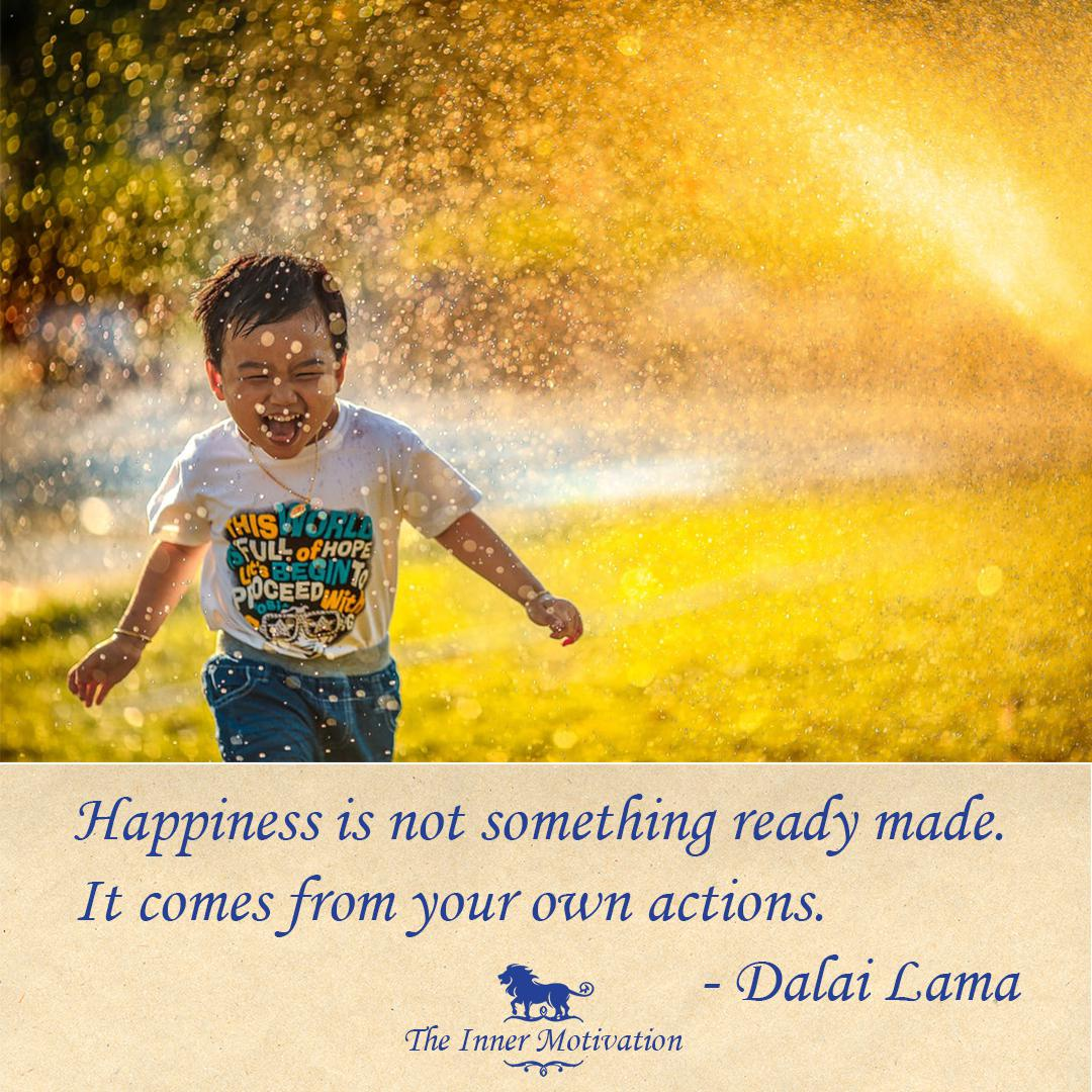 """Happiness is not something ready made. It comes from your own actions."" – Dalai Lama [1080×1080] [OC]: @theinnermotivation [Instagram]"