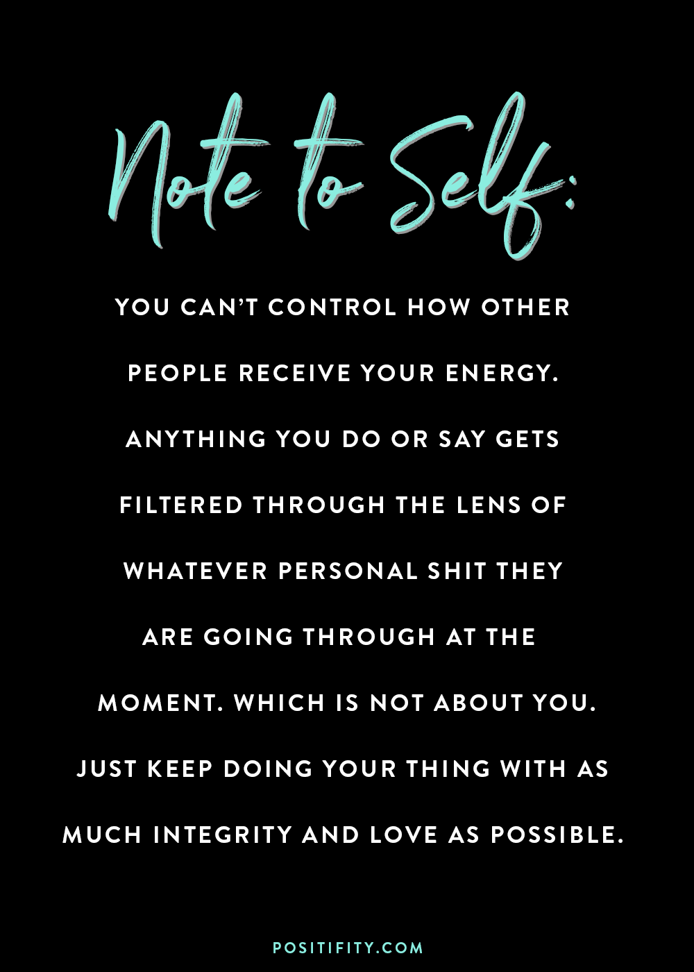 [Image] You cannot control how other people receive YOUR energy.