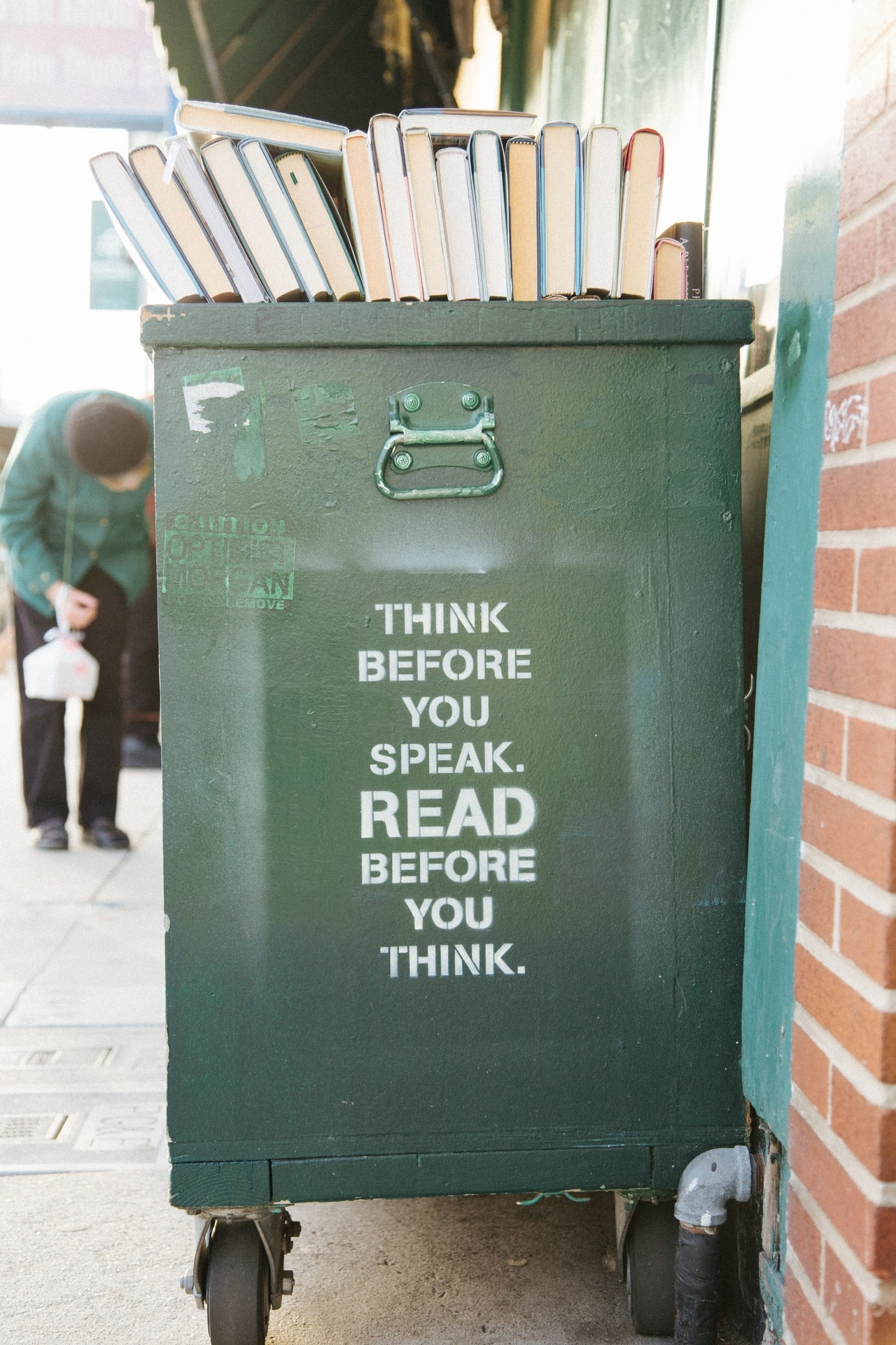 [Image] Think Before You Speak. Read Before You Think.