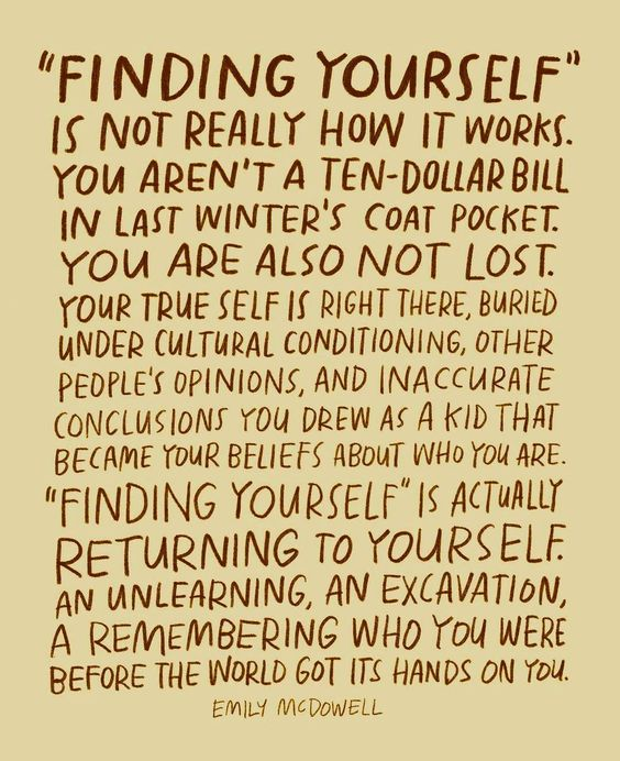 "[IMAGE] ""Finding Yourself"" Is Really a Return to Self"