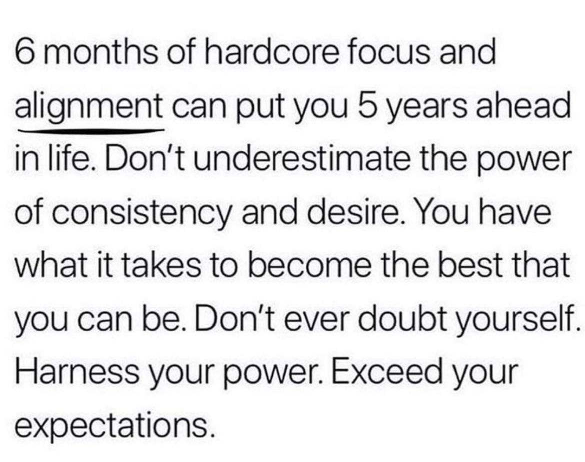 [image] the power of consistency and desire