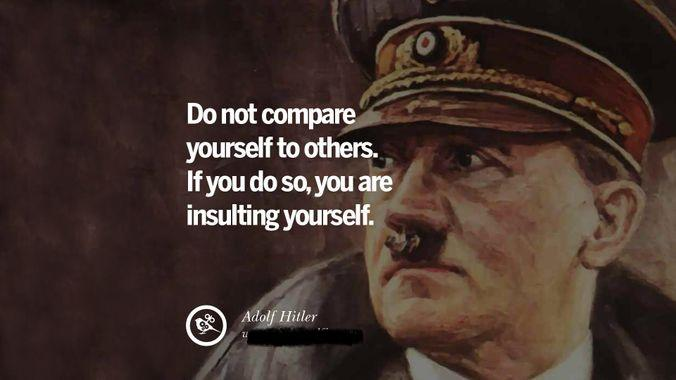 """Do not compare yourself to others. If you do so, you are insulting yourself."" – Adolph [676 x 380]"