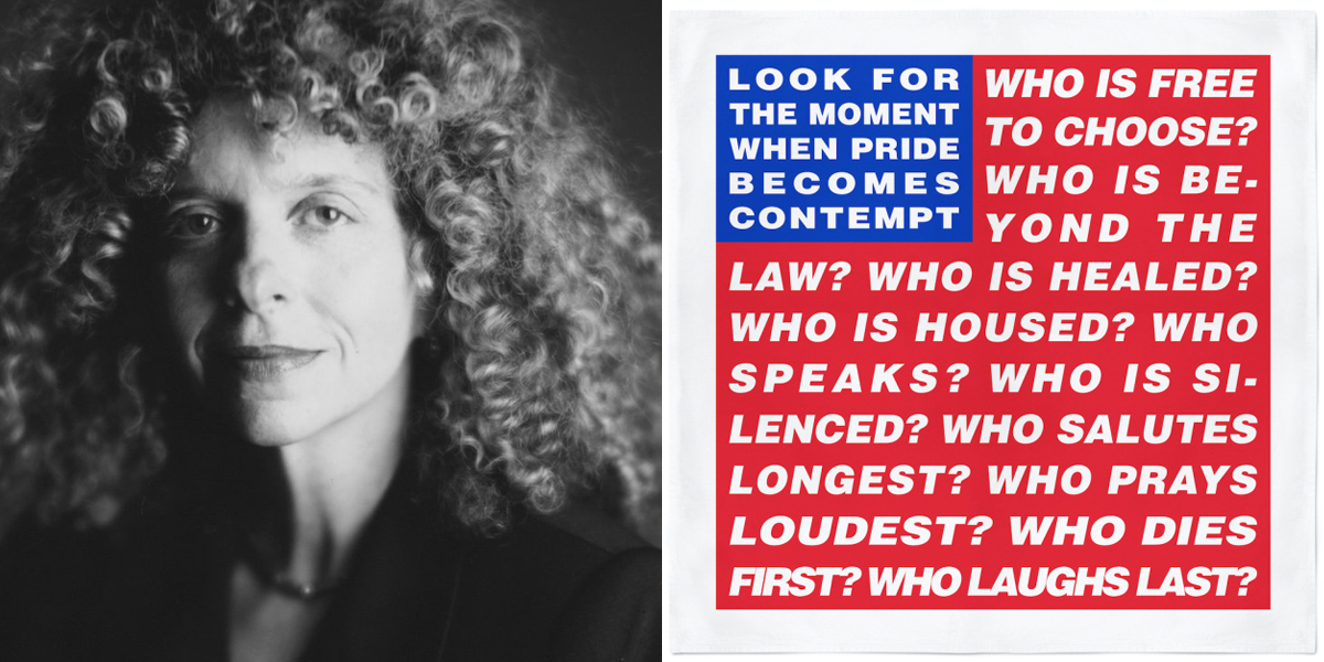 """Look for the moment when pride becomes contempt"" – Barbara Kruger [1200×600]"