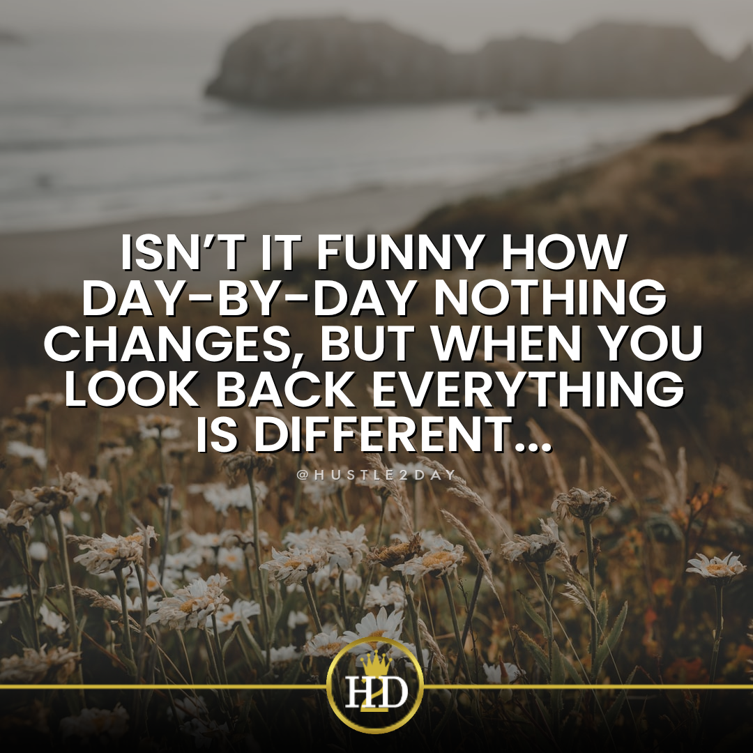 Isn't it funny how day-by-day nothing changes, but when you look back everything is different. (1080×1080) C.W. Lewis